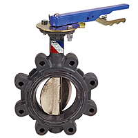 Butterfly Valve - Ductile Iron, Lug Type, 100 PSI, Actuated, LD-L110