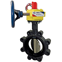 Butterfly Valve - Ductile Iron, Fire Protection, Normally Closed, UL Listed, Lug Style, LD-3510-C-8