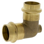 PC705-D-LF - Vent Elbow P x P- Forged Bronze