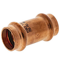 PC9600-DS - Coupling P x P - Wrot Copper