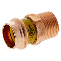 PCH604 - Adapter P x M - Wrot Copper