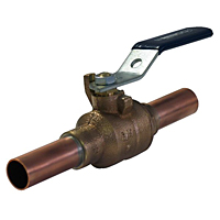 Ball Valve - Bronze, 200 PSI, Stainless Steel Trim, Copper Stubout, PS585-70-66