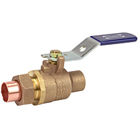 Two-Piece Bronze Ball Valve - Single Union End, Solder, S-585-70-SU