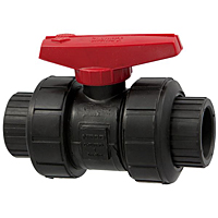 Ball Valve - Model C, Socket, Tru-Bloc® True Union, Black PP, EPDM, S61TB-E