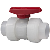 Ball Valve - Model C, Threaded, Tru-Bloc® True Union, Chem-Pure® Natural Polypropylene Schedule 80, EPDM, T62TB-E