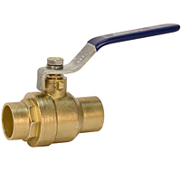 Ball Valve - Brass, Two-Piece, Full Port, C x C, S-FP-600A