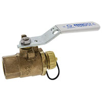 T-585-80-LF-HC - Two-Piece Performance Bronze Ball Valve - Lead-Free*, Full Port, Threaded, Hose Connection