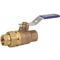 Two-Piece Bronze Ball Valve - Single Union End, Threaded, T-585-70-SU