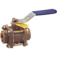 Three-Piece Bronze Ball Valve - UL Listed for Flammable Liquids, T-590-Y-UL