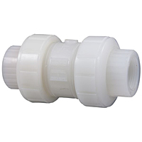Ball Check Valve - Threaded, True Union, Kynar® Natural PVDF Schedule 80, FKM, T66BC-V