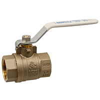 T-FP-600A-LF Ball Valve – Lead-Free* Brass, Two-Piece, Full Port, NPT x NPT