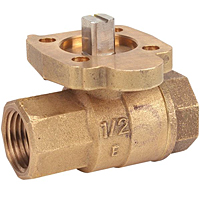 Two-Piece Bronze Ball Valve - ISO Mount Pad, TM-585-70-66
