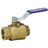 Two-Piece Bronze Ball Valve - Threaded Body, Solder End, TS-585-70