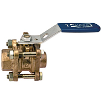 Three-Piece Bronze Ball Valve - Thread x Solder End Connection, TS-595-Y