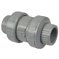 Ball Check Valve - True Union, Corzan® CPVC Schedule 80, Universal Ends, EPDM, U51BC-E