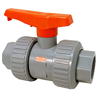 Bleach Ball Valve - Model D, Universal Ends, Tru-Bloc® True Union, Vented Ball, Corzan® HP CPVC Schedule 80, FKM, U51TB-V-BBV