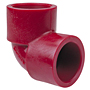 Socket 90° Elbow S x S - Kynar® Red PVDF Schedule 80, 6507