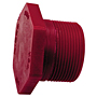 Thread Plug MPT - Kynar® Red PVDF Schedule 80, 6516-4