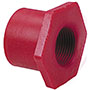 Flush Spigot x Thread Reducer Bushing Spg x FPT - Kynar® Red PVDF Schedule 80, 6518-3