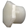 Thread Plug MPT - Kynar® Natural PVDF Schedule 80, 6616-4