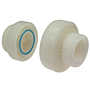FKM Threaded Union FPT x FPT Kynar® Natural PVDF Schedule 80, 6633-3-3