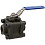 Three-Piece Carbon Steel Ball Valve - Fire Safe, Butt Weld ISO Mount End, BM-590-CS-R-66-FS-LL