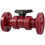 Ball Valve - Model C, Flanged, Tru-Bloc® True Union, Kynar® Red PVDF Schedule 80, EPDM, F65TB-E