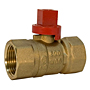 Gas Ball Valve - Female x Female, Square Head, GB2A