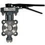 LCS-6822 High Performance Butterfly Valve - Carbon Steel Body, 285 PSI, Handle