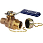 Two-Piece Bronze Ball Valve - Solder x Hose Connection, S-585-70-66-HC