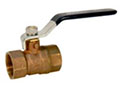 T-580-A, Ball Valve - Brass, Two-Piece, Standard