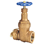 Gate Valve - Bronze, Fire Protection, Hose Cap and Chain, T-103-HC