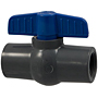 Ball Valve - Threaded, Compact Economy, PVC Schedule 80, FKM, T45CE-V