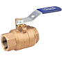 Two-Piece Bronze Ball Valve - Stainless Steel Trim, Threaded, T-580-70-66
