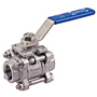 Three-Piece Stainless Steel Ball Valve - Threaded ISO Mount, TM-595-S6-R-66