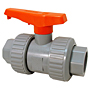 Ball Valve - Model D, Universal End, Tru-Bloc® True Union, Corzan® HP CPVC Schedule 80, EPDM, U51TB-E
