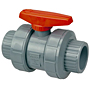 Ball Valve - Model C, Threaded, Tru-Bloc® True Union, Corzan® CPVC Schedule 80, EPDM, T51TB-E